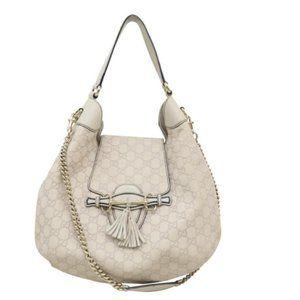 100% Auth Gucci Emily Guccissima Leather Calfskin